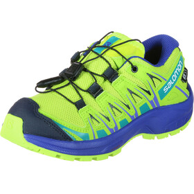 Salomon XA Pro 3D CSWP Shoes Youth acid lime/surf the web/tropical green